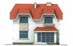 Проект дома 41-11 - 4 фасад