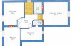 Проект дома 28-11 - план 2 этажа