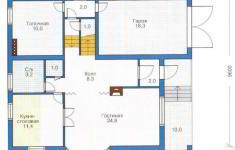 Проект дома 40-11 - план 1 этажа