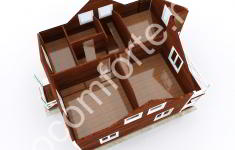 Дом ЛОНДОН - 3D план 2 этажа