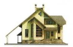 Проект дома 23-11 - 1 фасад