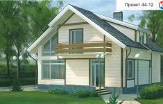Проект дома 44-12 - главный вид