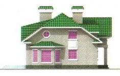 Проект дома 26-11 - 2 фасад