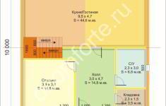 Дом СЕМЕЙНЫЙ - план 1 этажа