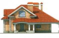 Проект дома 34-11 - 1 фасад