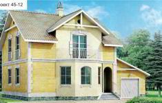 Проект дома 45-12 - главный вид