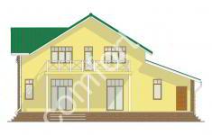 Проект дома БЕРН - 3 фасад