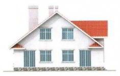 Проект дома 28-11 - 4 фасад