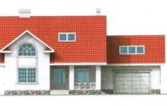Проект дома 28-11 - 1 фасад