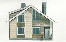 Проект дома 44-12 - 4 фасад