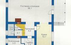 Проект дома 43-12 - план 1 этажа