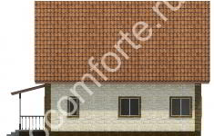 Дом КОМФОРТ - 4 фасад