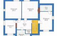 Проект дома 26-11 - план 2 этажа