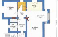 Проект дома 32-11 - план 1 этажа