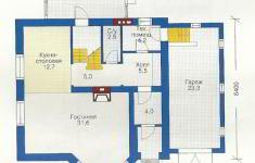 Проект дома 45-12 - план 1 этажа