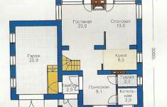 Проект дома 77-12 - план 1 этажа
