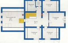 Проект дома 19-12 - план 2 этажа