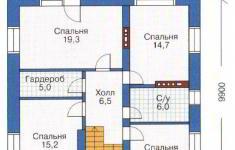 Проект дома 27-11 - план 2 этажа