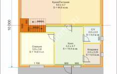 Дом БАЛЧИК - план 1 этажа