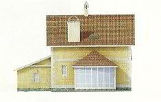 Проект дома 45-12 - 1 фасад