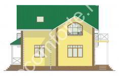 Проект дома БЕРН - 2 фасад