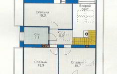 Проект дома 44-12 - план 2 этажа