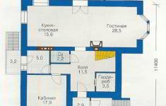 Проект дома 71-12 - план 1 этажа