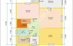 Дом КОМФОРТ - план 1 этажа