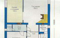 Проект дома 44-12 - план 1 этажа