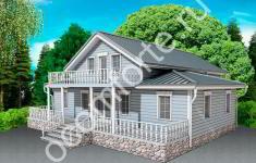 Проект дома АРХАНГЕЛЬСК - главный вид