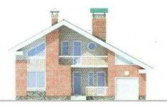 Проект дома 42-11 - 4 фасад