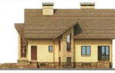 Проект дома 23-11 - 4 фасад