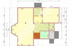 Дом СКАЗКА - план 1 этажа