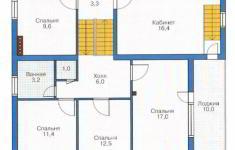 Проект дома 40-11 - план 2 этажа