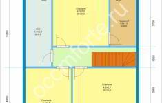 Дом СВЯТОГОР - план 2 этажа