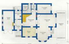 Проект дома 19-12 - план 1 этажа