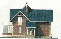 Проект дома 71-12 - 4 фасад