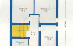 Проект дома 43-12 - план 2 этажа