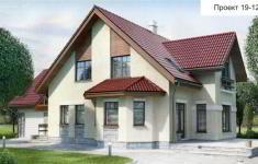 Проект дома 19-12 - главный вид
