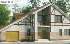 Проект дома 35-12 - главный вид