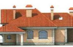 Проект дома 34-11 - 4 фасад