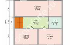 Дом НЕВАДА - план 2 этажа