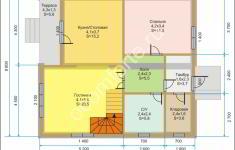 Дом ЛОНДОН - план 1 этажа