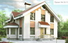 Проект дома 33-11 - главный вид
