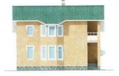 Проект дома 40-11 - 2 фасад