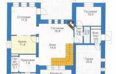 Проект 25-11 - план 1 этажа
