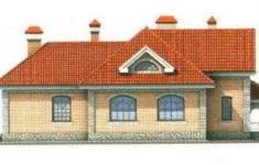 Проект дома 34-11 - 2 фасад