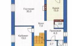 Проект дома 27-11 - план 1 этажа