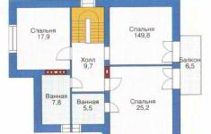Проект дома 32-11 - план 2 этажа