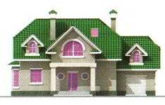 Проект дома 26-11 - 1 фасад